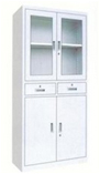 文件柜办公柜钢制铁皮柜资料柜档案柜储物柜中二斗文件柜(850*390*1800)