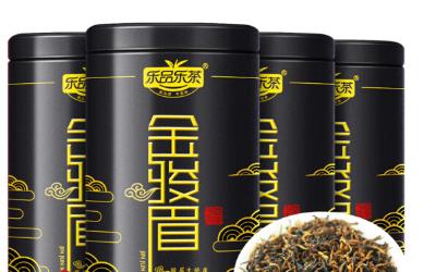 乐品乐茶 金骏眉茶叶红茶 特级正宗浓香型蜜香红茶500g(125g*4罐)