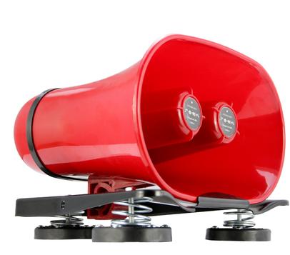 华预 车顶宣传广告喇叭 大功率户外喊话录音车载扩音器12-14V150W