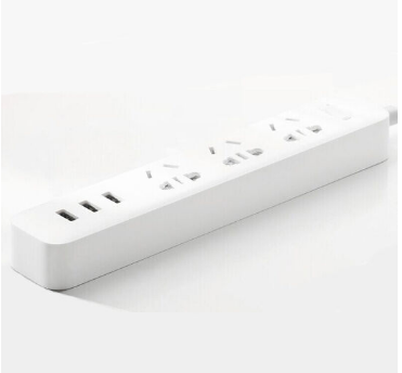 小米(MI) 插线板三孔多功能插排接线板3孔usb版插座拖线板 官方标配白色