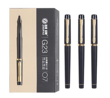 智牌签字笔中性笔大容量签名笔商务办公日常书写黑色水笔 G23黑色0.7mm