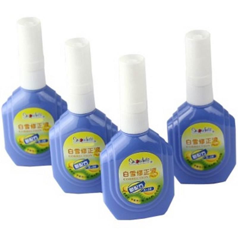 白雪 SNOWHITE X-18 经典修正液18ML 塑胶头蓝色外观单瓶装