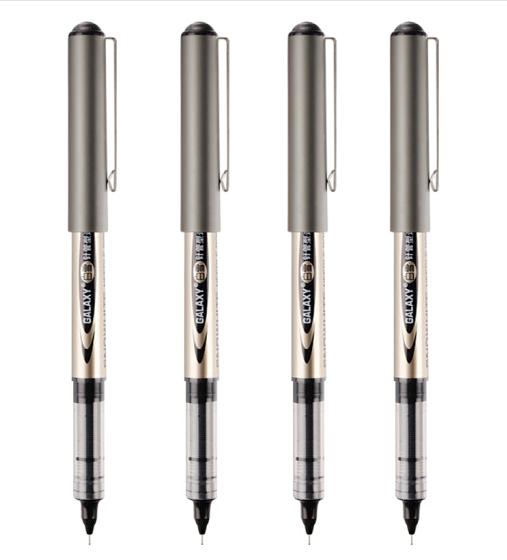 白雪(snowhite)品质直液式走珠笔学生用中性笔全针管笔签字笔考试专用笔巨能写PVN-166 0.5mm黑色 12支/盒