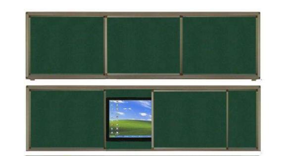 耕耘 推拉绿板 (4米*1.3米)