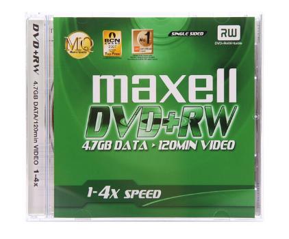 麦克赛尔(maxell)DVD+RW光盘 刻录光盘 光碟 可擦写空白光盘 4速4.7G台产 1片盒装