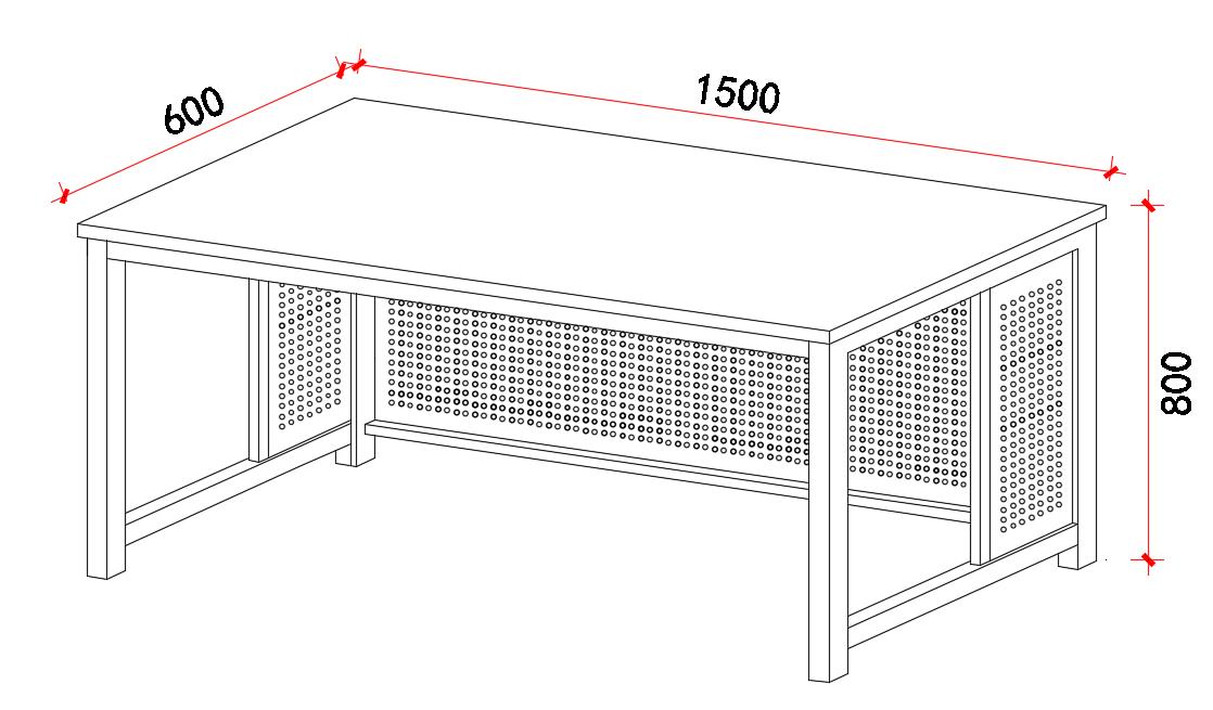 双人电脑桌椅子套 桌子1500x600x800,椅子350x250