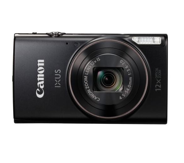 佳能(Canon)IXUS 285 HS 数码相机 黑色(2020万像素 12倍光学变焦 25mm超广角 支持Wi-Fi和NFC)