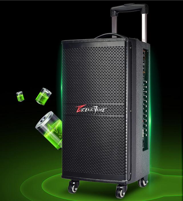 霹雳舞拉杆音箱 BK-10 户外弹唱便携广场舞音箱舞台会议用音响