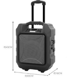 万音 Q9 移动户外音响广场舞拉杆手提便携大功率带无线话筒K歌音箱