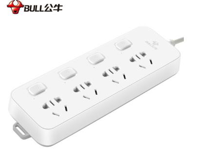 公牛(BULL)新国标分控插座/插线板/插排/排插/接线板/拖线板 GN-B3043 4位分控全长1.8米 独立开关