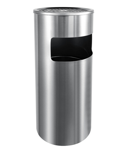 舒蔻(Supercloud)不锈钢烟灰缸酒店大堂垃圾桶立式宾馆带内桶走廊商场桶箱电梯口工业垃圾桶 不锈钢烟灰桶