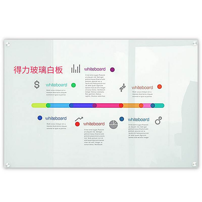 得力8740磁性玻璃白板1000*1500mm(白色)