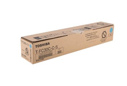 东芝(TOSHIBA)T-FC30C墨粉 粉盒 碳粉 墨盒2051C/2550/2551C/2050 T-FC30C-C-S 青色 低容量 70克
