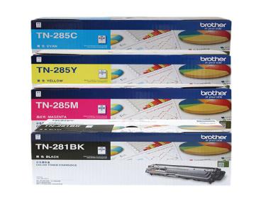 兄弟(brother)TN-281/285原装 粉盒MFC-9340cdw DCP9020CDN 四色粉盒一套