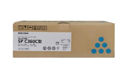 理光(Ricoh)SP C360C 蓝色墨粉盒 碳粉适用于SP C360DNw/C360SFNw 蓝色