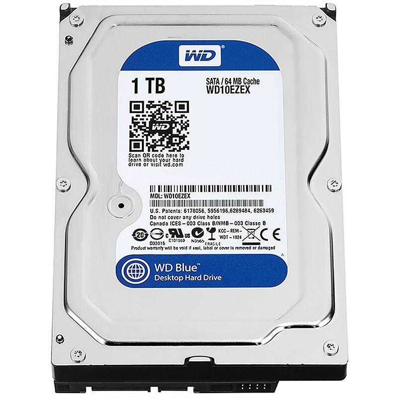 西部数据(WD)蓝盘 1TB 台式机械硬盘(WD10EZEX)
