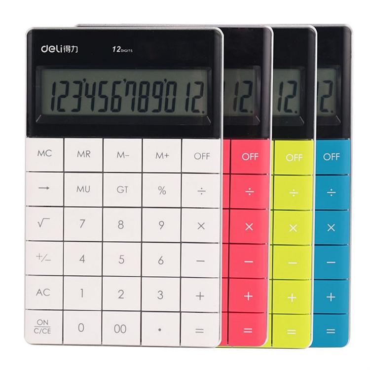 得力1589桌面计算器 普通计算器(白)