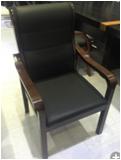 实木办公会议椅电脑椅家用皮椅四脚会议室椅棋牌麻将老板椅  实木脚 固定扶手