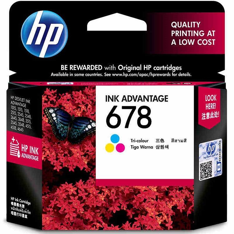 惠普 HP678 CZ108AA 原装墨盒 彩色 适用于HP3548