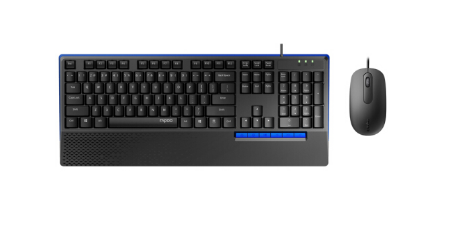 雷柏(Rapoo)NX2000有线游戏键盘鼠标套装